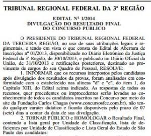 Concurso TRF 3ª Região