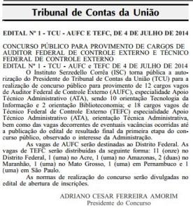 Autorização Concurso do TCU