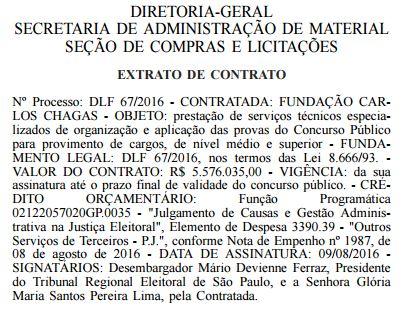 Concurso TRE-SP 2016