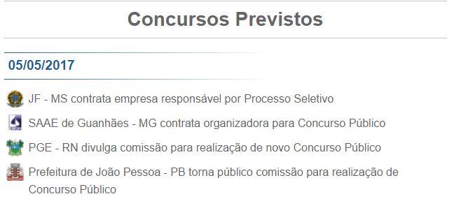PCI Concursos Previstos