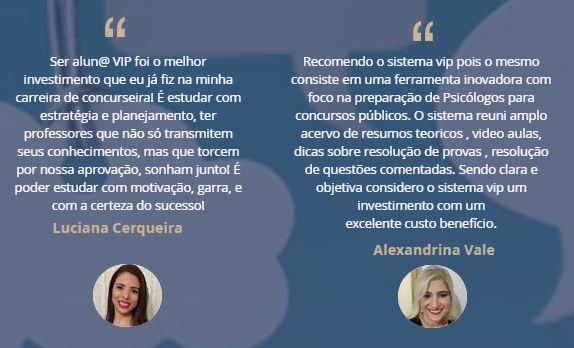 Depoimentos VIP Concursos Psicologia