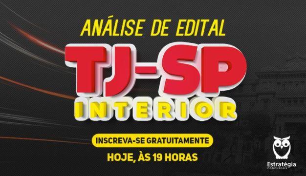 Aulão Edital Concurso TJ SP Interior 2017