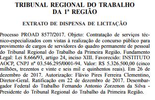 Concurso TRT RJ 2018
