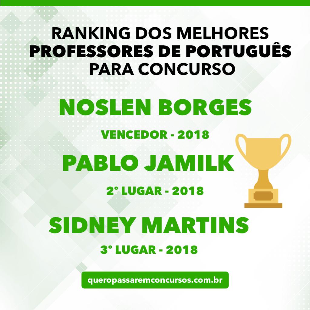 ranking dos melhores professores de português para concursos públicos