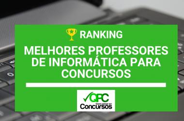Informática para Concursos: Ranking dos Melhores Professores 2019