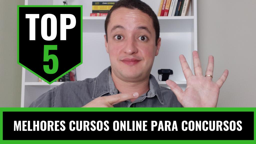 top 5 melhores cursos online para concursos