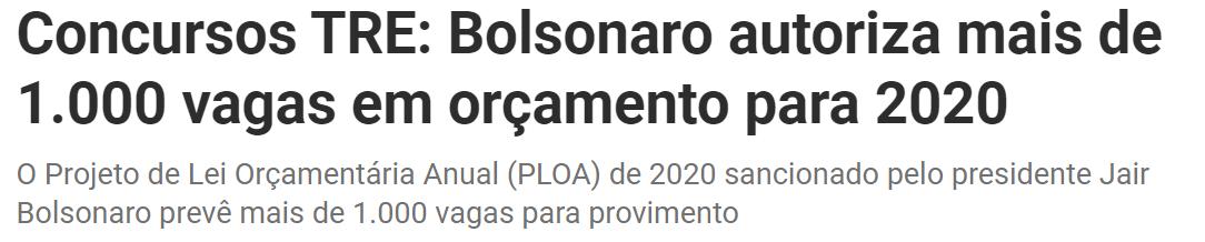 concursos tre 2020