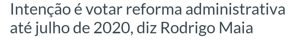 reforma administrativa 2020